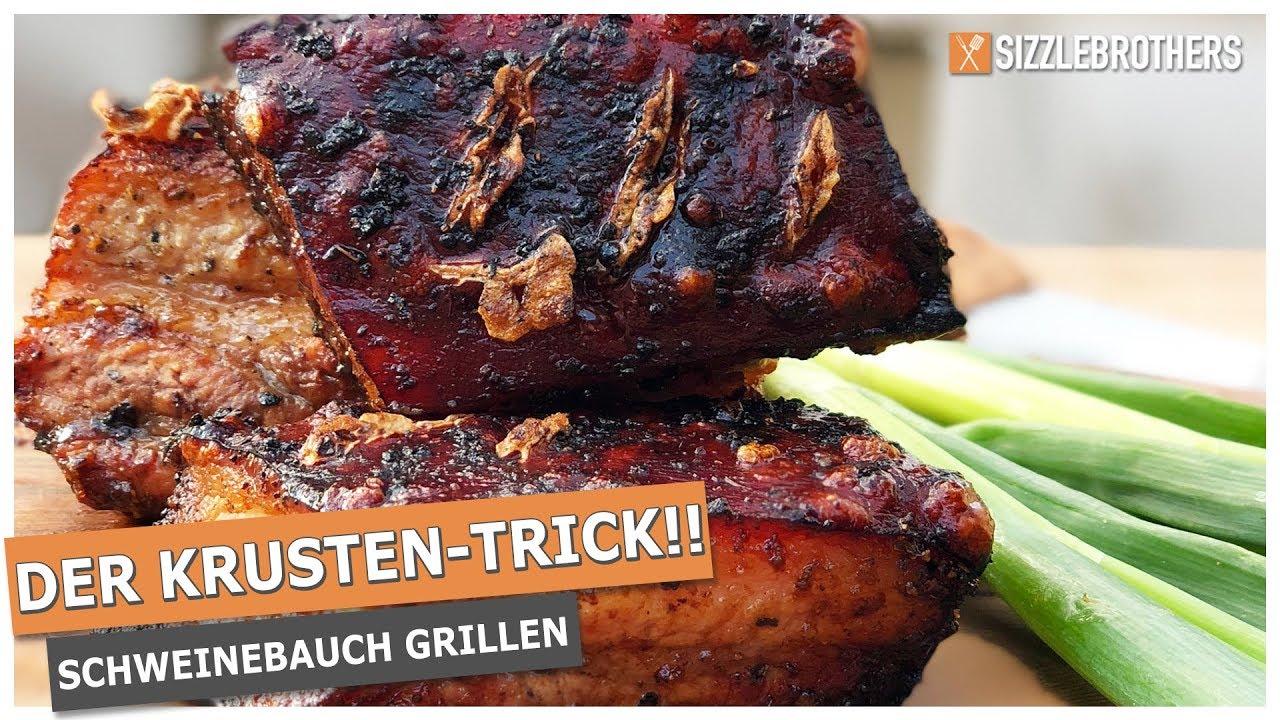 Spareribs Gasgrill Zeitler : Der krustentrick! schweinebauch grillen auf dem kugelgrill youtube