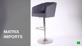 LARDO STAINLESS STEEL ADJUSTABLE BAR STOOL