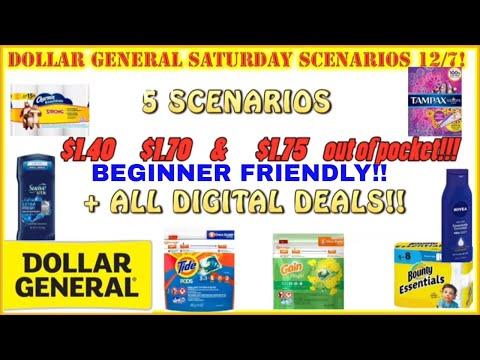 💪$1-$2 OOP!+ Dollar General Deals 12/8 + All Digital Couponing+5 Dollar General Scenarios+Newbies👍