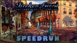 Broken Sword Shadow of the Templars Any% Speedrun (1:39:24) WR