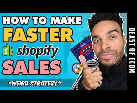 Make FASTER Shopify Sales Using This WEIRD Drop Shipping Strategy - (Step by Step) thumbnail