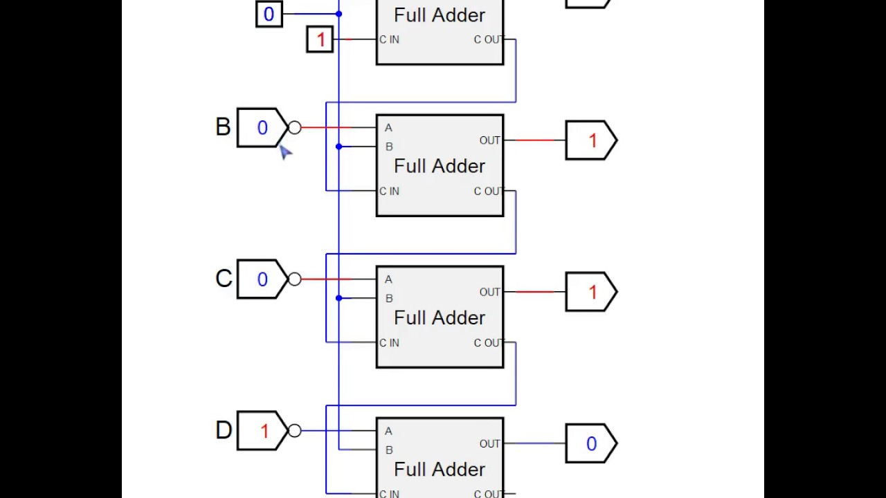 Twos Complement Circuit Youtube Bcd Binary Number Convert Diagram Addaconvertercircuit