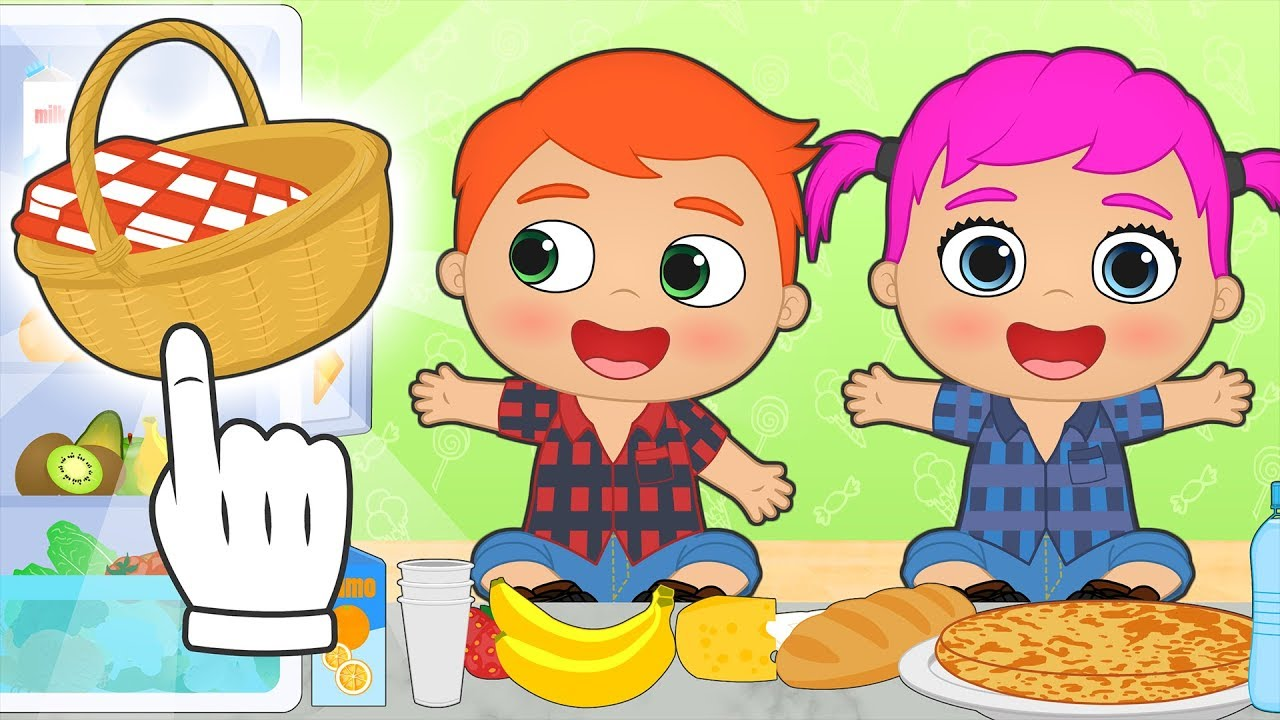 baby-alex-and-lily-make-ready-for-picnic-on-mountains-educational-cartoons
