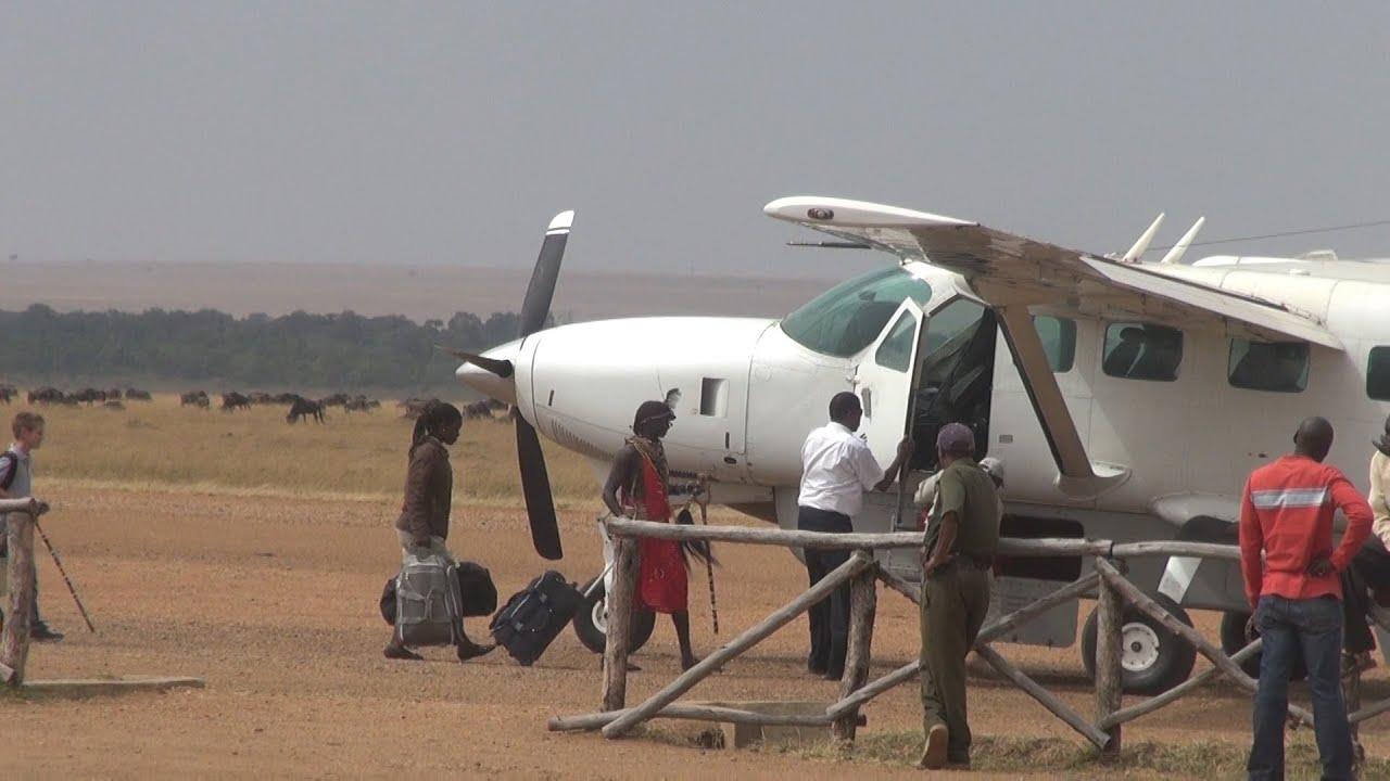 Safarilink Dash 8 flight, Masai Mara to Nairobi, Kenya