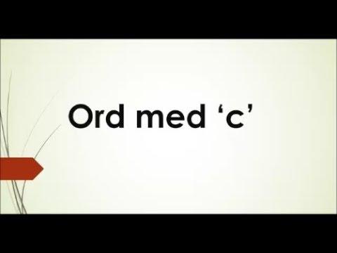 10 ord med 'c'