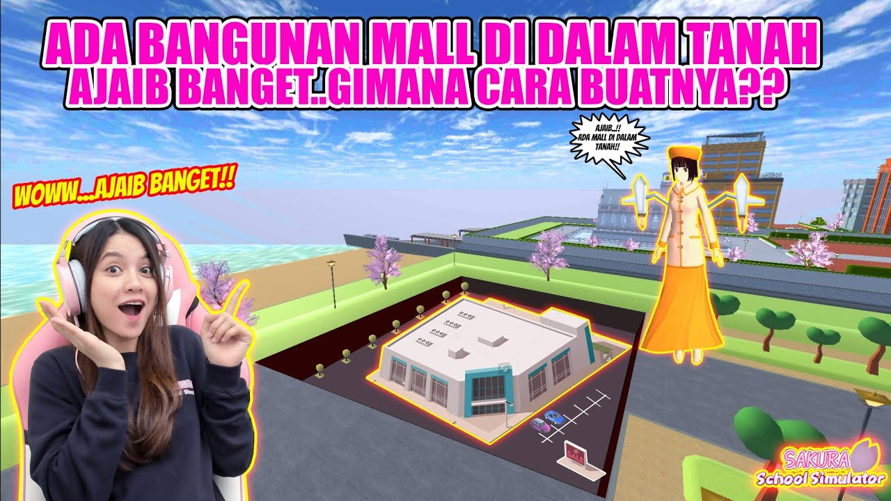 AJAIB..ADA MALL DI BAWAH TANAH!! AUTO SHOPPING & BORONG BELANJAAN!! SAKURA SCHOOL SIMULATOR-PART 484