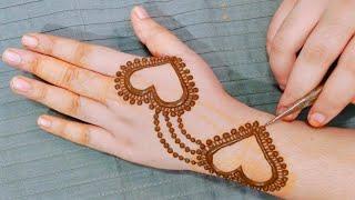 Beautiful Back Hand Mehndi Design 2020 || Simple Mehndi || Stylish New Heart Mehndi Design for Hands