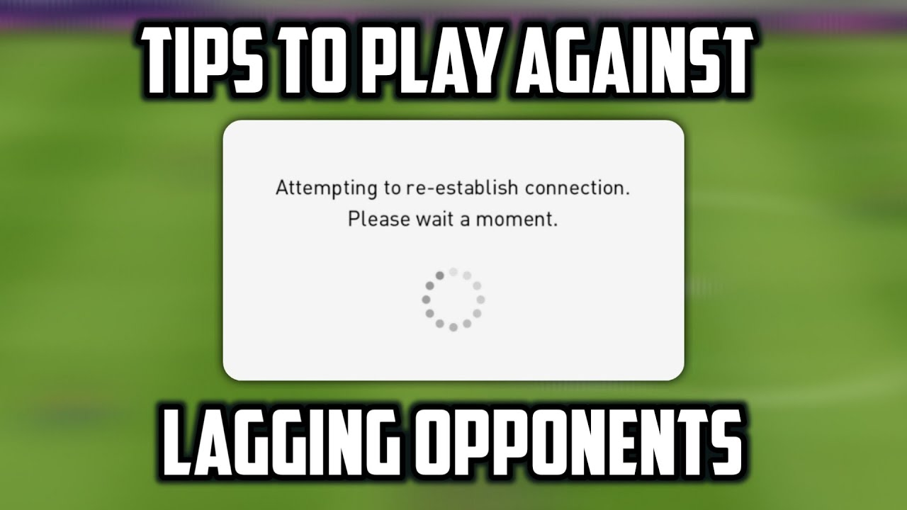 Best tips to play against Lagging Opponent or Bad connection opponents || Pes21