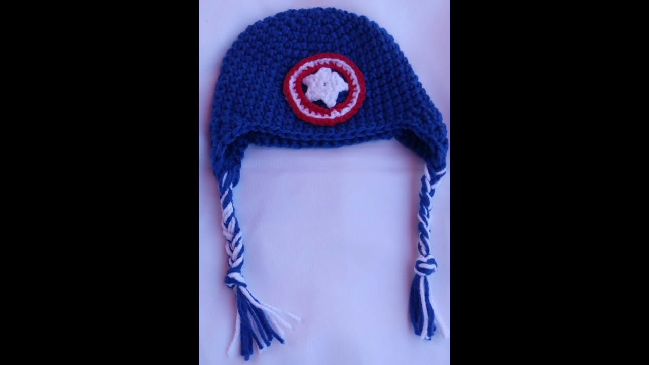 Gorro de Capitan America en Crochet /Facil/ - YouTube