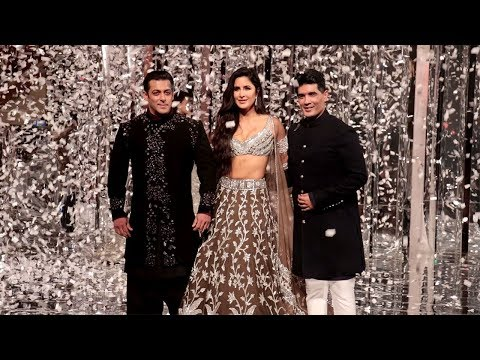 Salman Khan's MACHO ENTRY With Girlfriend Katrina Kaif At Manish Malhotra's Fashion Show 2018