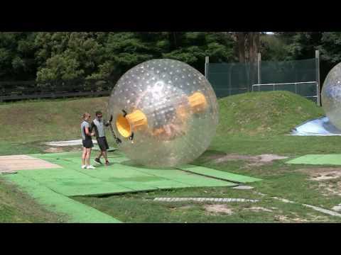 Extreme fun Zorbing (globe riding) in Rotorua, New Zealand - 1080p HD footage!