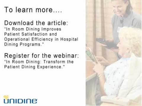 In Room Dining: Transform the patient dining experience.