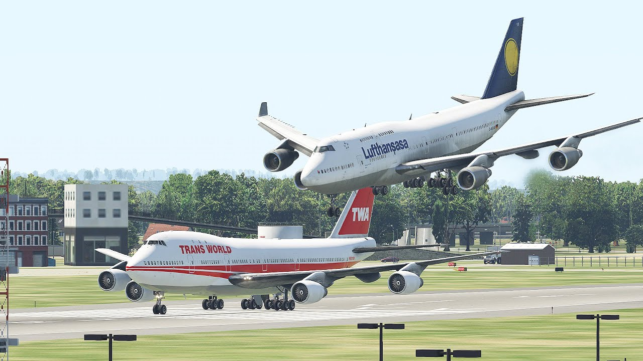 Two Giant Boeing 747 Almost Collide At The Runway Due To Pilot's Mistake |Xplane 11