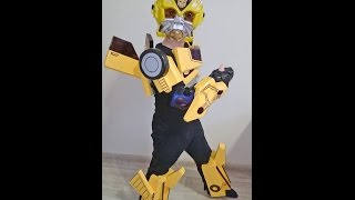 Как сделать костюм трансформера Бамблби для ребенка.