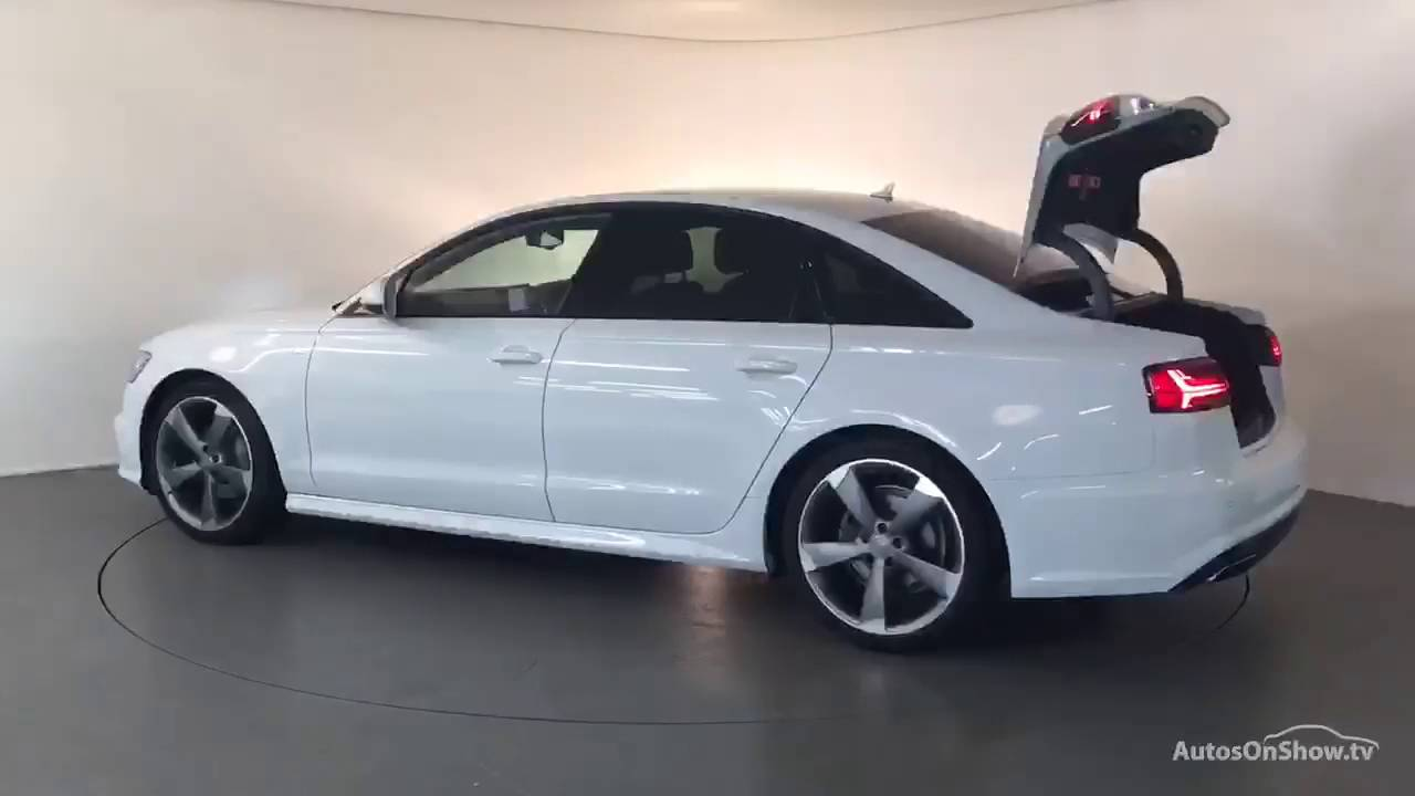 FJ16ZSF AUDI A6 TDI ULTRA S LINE BLACK EDITION WHITE 2016, Derby Audi    YouTube