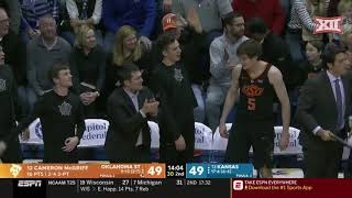 Oklahoma State vs Kansas Men's Basketball Highlights