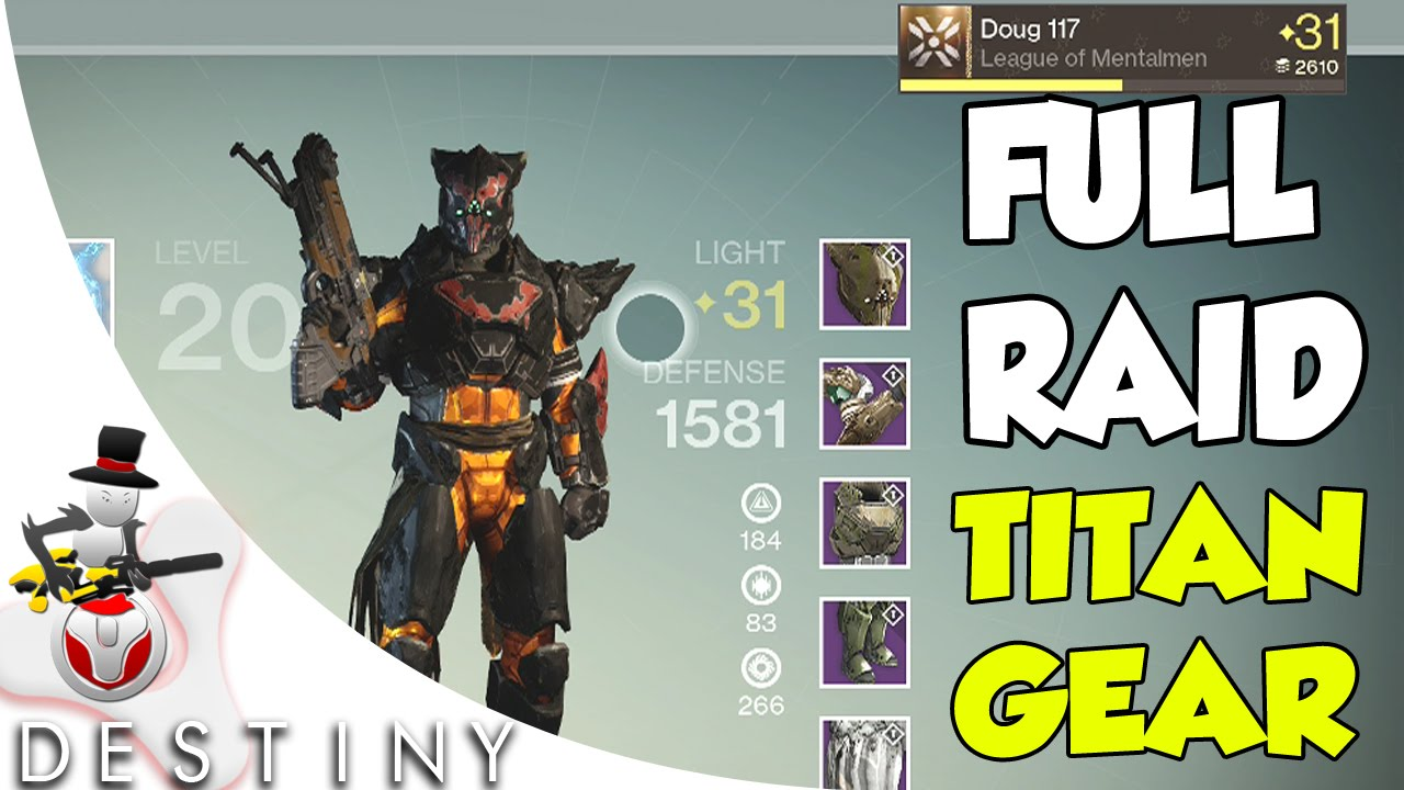 Raid gear showcase doug 117 crota s end the dark below youtube