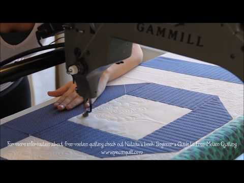 How To: Machine Quilt Swirly Feathers with Natalia Bonner