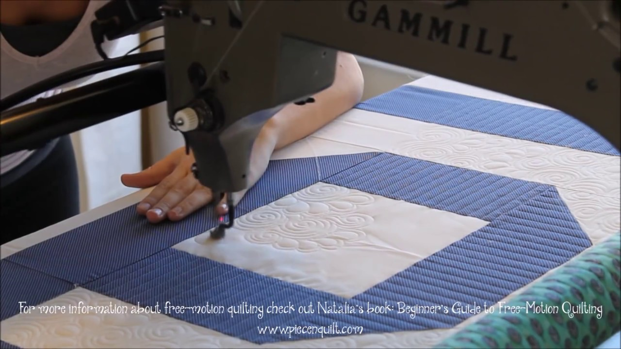 How To: Machine Quilt Swirly Feathers with Natalia Bonner - YouTube : natalia bonner free motion quilting - Adamdwight.com