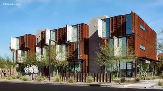 Old shipping containers being used for homes and businesses in Phoenix