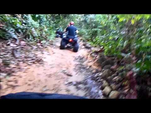 Malaysian jungle atv ride with Yuckie
