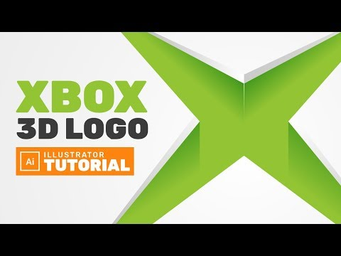 3D Xbox Logo Design in Adobe Illustrator - Adobe Illustrator Tutorial thumbnail