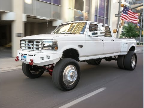 Rare Super Clean 1997 Ford 350 4x4 Obs Ford Lifted 6 Inches On 22s
