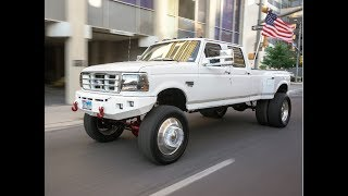 RARE SUPER CLEAN 1997 Ford 350 4x4 OBS FORD lifted 6 inches on 22s with 37s!