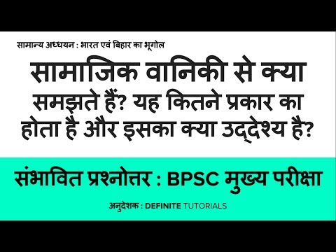 What is social forestry? Its types and objectives (in Hindi) - Expected Question with Model Answer