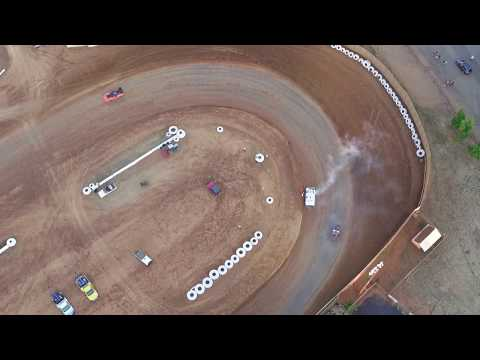 Crash and smoke on the Placerville Speedway, 100 Placerville Drive
