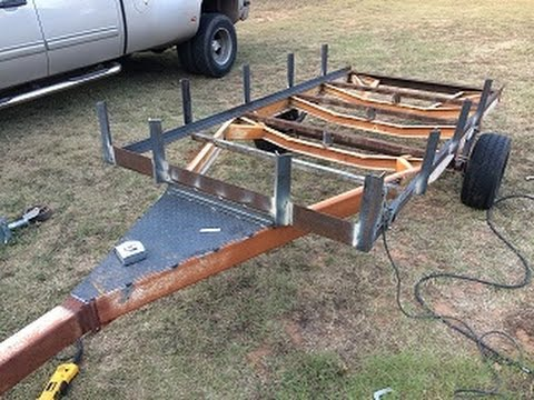 Boat Trailer to Utility Conversion Part 3 - YouTube