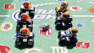 """MONSTER TRUCK FOOTBALL GAME """"49ERS VS REDSKINS"""""""