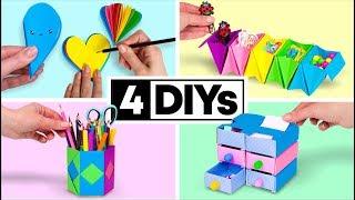 4 útiles escolares que podrás hacer en 5 minutos
