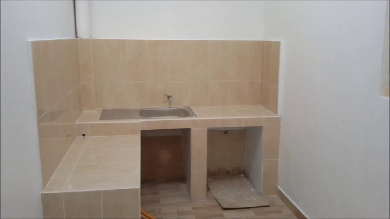 renovasi dak dapur  meja dapur cor  YouTube