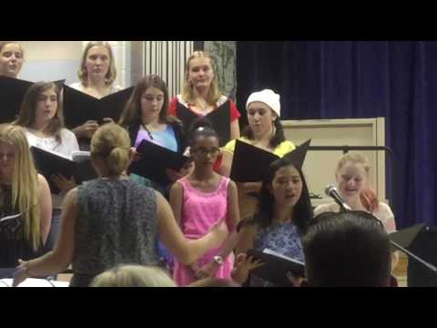 Bridge Over Troubled Water - The Glen Landing Middle School Select Choir - 5/26/16