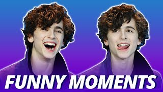 Timothée Chalamet Is Like A Puppy In Human Form - Funny Moments