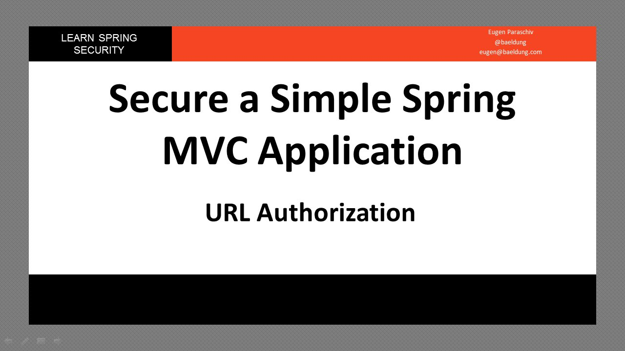 Spring Security - URL Authorization (LSS - Module 1 - Lesson 3)