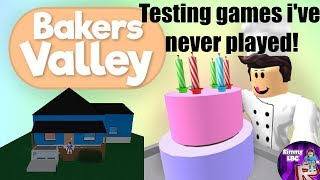 Testing Roblox games i've never played #6 | Bakers Valley