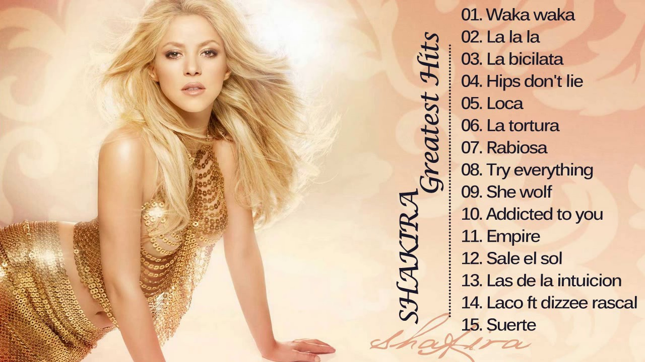 Shakira Song Lyrics by Albums