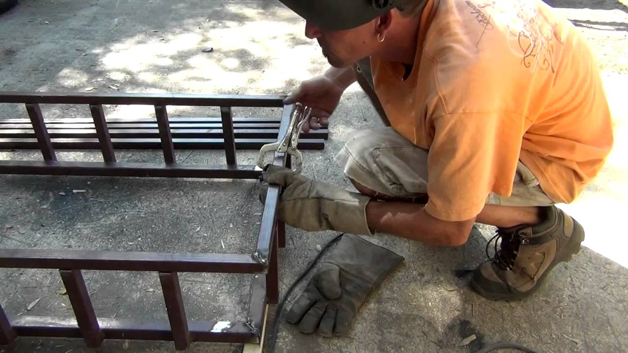 How To Weld A Cargo Carrier From Junk Scrap Steel Youtube
