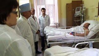В Ульяновске провели уникальную операцию на работающем сердце(На прошлой неделе в областной больнице была проведена уникальная операция на работающем сердце. Аорто-ко..., 2015-10-27T11:08:30.000Z)