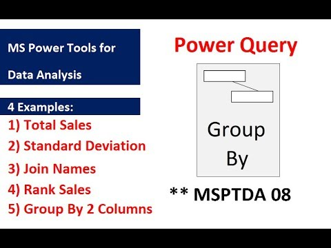 MSPTDA 08: Power Query Group By feature & Table.Group Function (5 Examples)