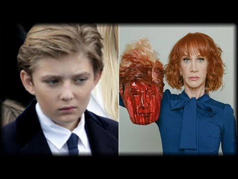 WHAT BARON TRUMP DID WHEN HE SAW KATHY GRIFFIN HOLDING HIS FATHER'S HEAD WILL MAKE YOU CRY