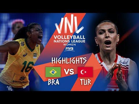BRA vs. TUR - Highlights Week 5 | Women's VNL 2021