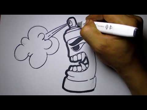 Graffiti Karakter Spray Pilox Youtube