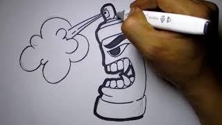 Download Video Graffiti Karakter Spray Pilox MP3 3GP MP4