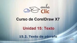 Curso de CorelDraw X7. 15.2. Texto de párrafo.
