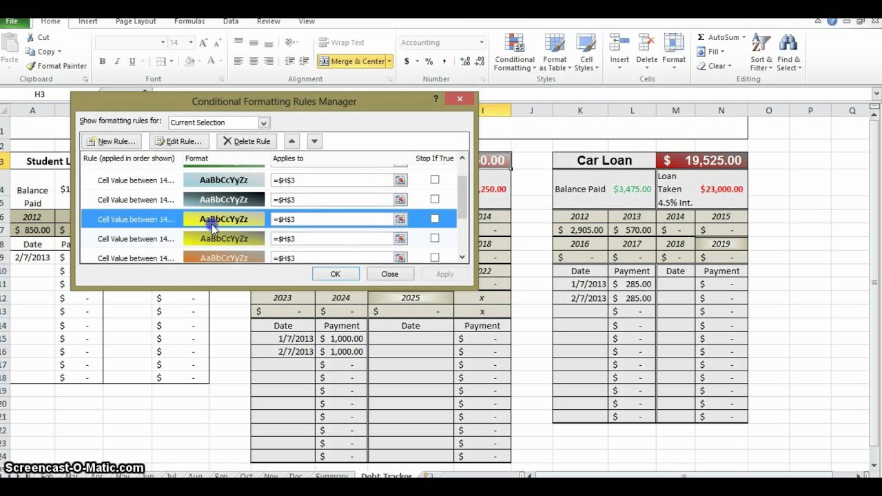 How to Make a Budget in Excel - Part 5