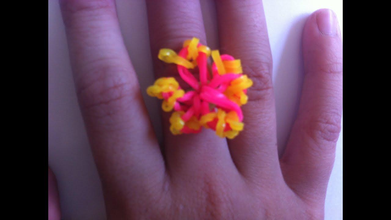 Как делать кольцо цветок
