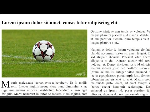 CSS For Newspaper Layout